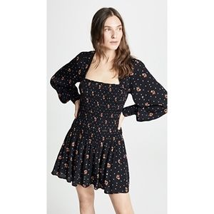 Free People Combo Two Faces Star Print Mini Dress